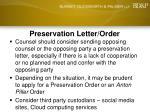 preservation letter order