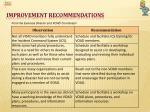improvement recommendations1