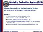 disability evaluation system des9