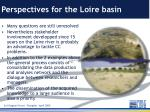 perspectives for the loire basin
