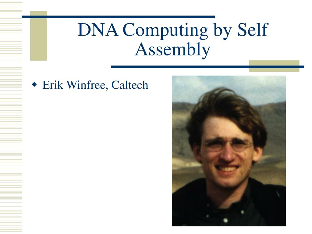dna computing by self assembly l.