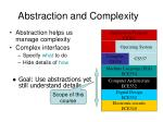 abstraction and complexity