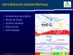 defici ncia de gonadotrofinas