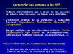 caracter sticas comunes a los npp