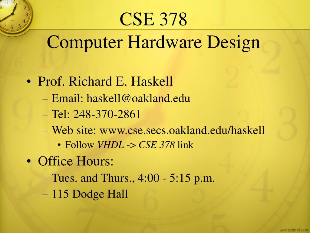 cse 378 computer hardware design l.