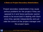 a note on project secondary stakeholders11