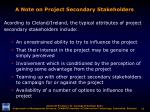 a note on project secondary stakeholders12