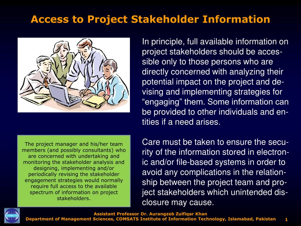 access to project stakeholder information l.