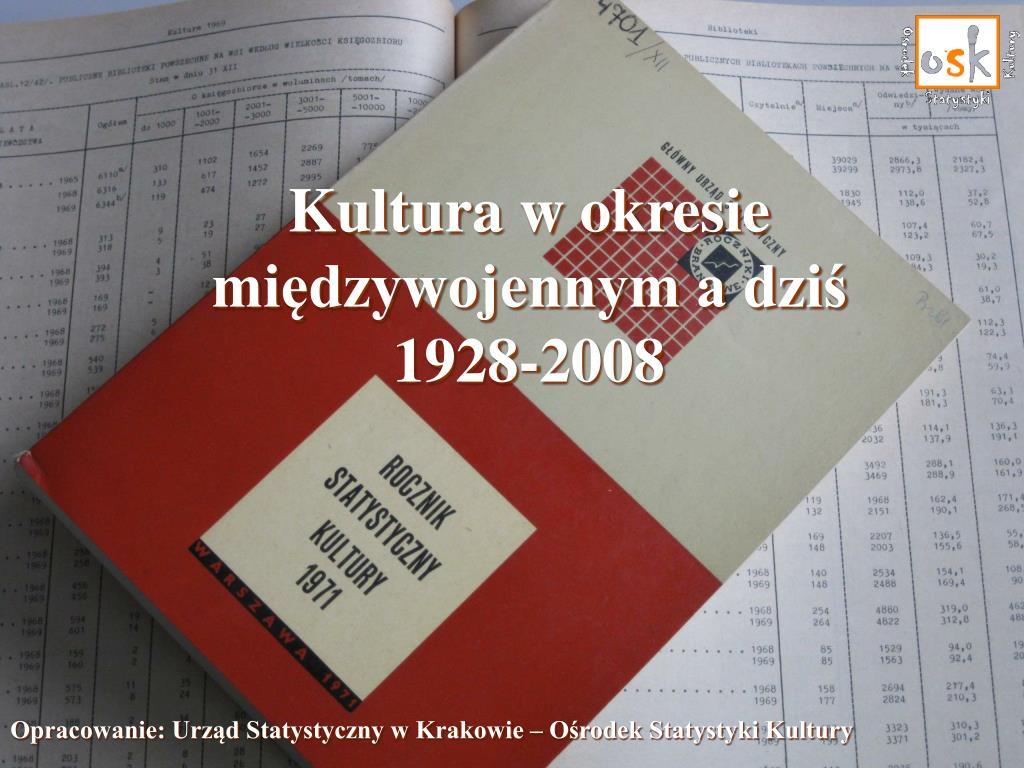 kultura w okresie mi dzywojennym a dzi 1928 2008 l.
