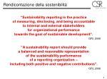 rendicontazione della sostenibilit