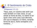 el sentimiento de cristo