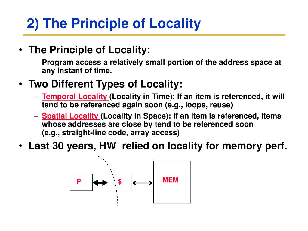 2) The Principle of Locality