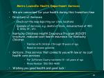metro louisville health department services