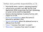 define and quantity dependability 1 3