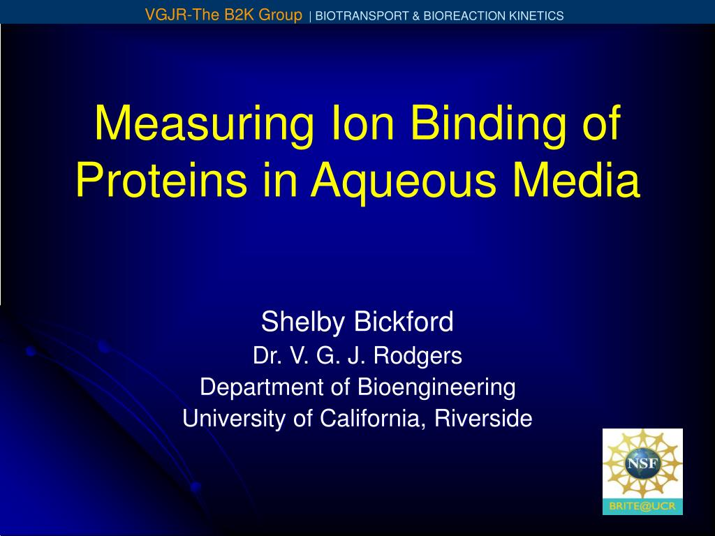 measuring ion binding of proteins in aqueous media l.
