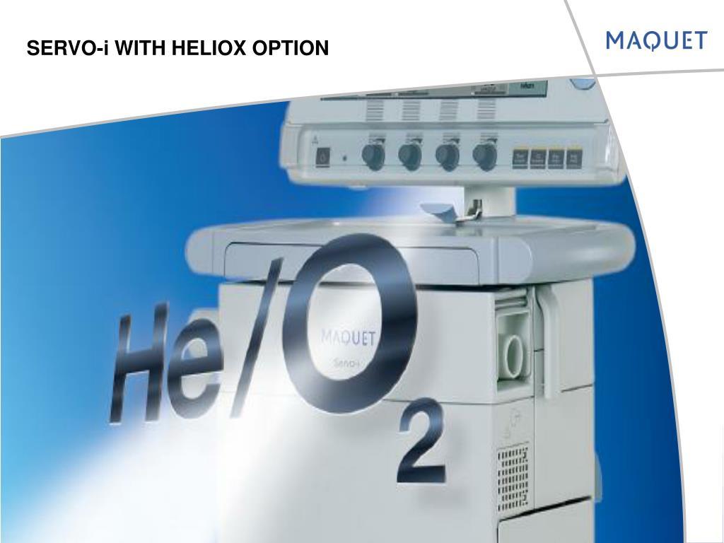 servo i with heliox option l.