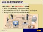 data and information3