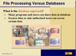 file processing versus databases18