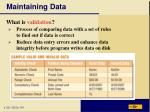 maintaining data15