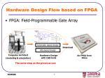 hardware design flow based on fpga
