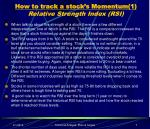 how to track a stock s momentum 1 relative strength index rsi