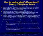 how to track a stock s momentum 3 support resistance levels