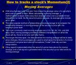 how to tracks a stock s momentum 2 moving averages