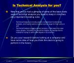 is technical analysis for you