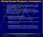 moving average divergence convergence