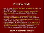 principal texts