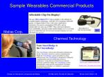 sample wearables commercial products