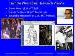 sample wearables research visions