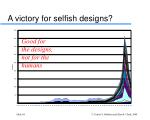 a victory for selfish designs
