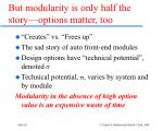 but modularity is only half the story options matter too