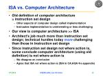 isa vs computer architecture