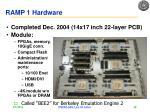 ramp 1 hardware