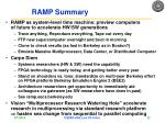 ramp summary