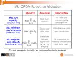 mu ofdm resource allocation