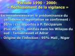 p riode 1990 2000 fl chissement de la vigilance