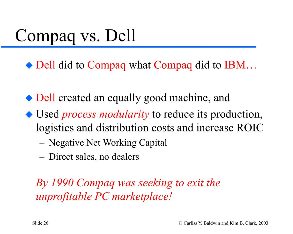 Compaq vs. Dell