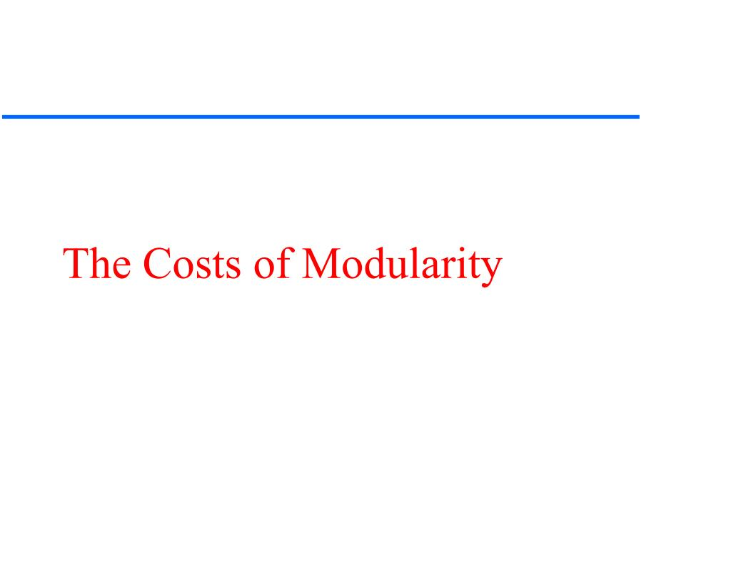 The Costs of Modularity