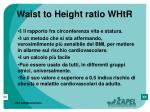 waist to height ratio whtr