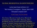 global residential radon pooling