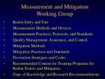 measurement and mitigation working group