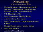 networking maximize educational efforts