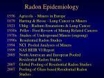 radon epidemiology