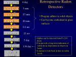 retrospective radon detectors