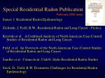 special residential radon publication