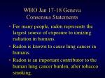 who jan 17 18 geneva consensus statements