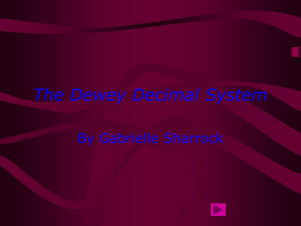 the dewey decimal system l.